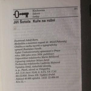 antikvární kniha Kuře na rožni, 1984