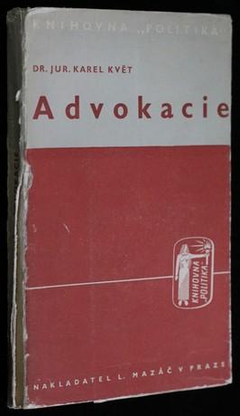 náhled knihy - Advokacie : příspěvek k sociologii advokátního stavu