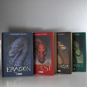 náhled knihy - Odkaz Dračích jezdců. Eragon. Eldest. Brisingr. Inheritance. (4 svazky, komplet, 1. vydání)