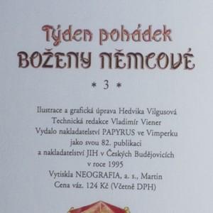 antikvární kniha Týden pohádek Boženy Němcové, 3 díl, 1995
