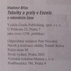 antikvární kniha Tabulky a grafy v Excelu, 2001
