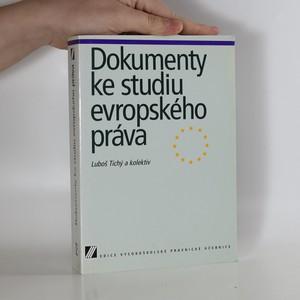 náhled knihy - Dokumenty ke studiu evropského práva