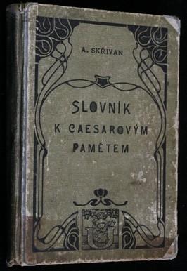 náhled knihy - Slovník k Caesarovým pamětem o válce Gallské a občanské