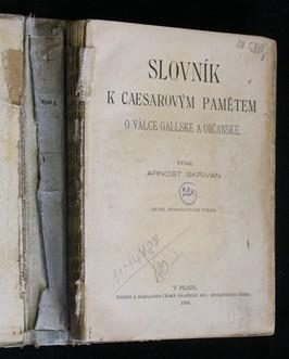 antikvární kniha Slovník k Caesarovým pamětem o válce Gallské a občanské, 1905