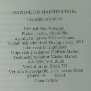 antikvární kniha Únik, 1991