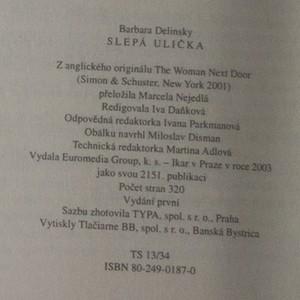 antikvární kniha Slepá ulička, 2003
