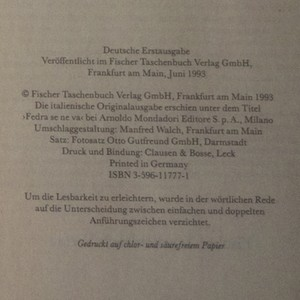 antikvární kniha Fedra (německy), 1993
