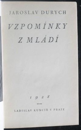 náhled knihy - Vzpomínky z mládí