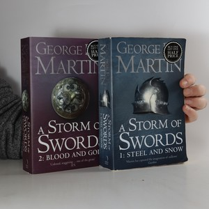 náhled knihy - A song of ice and fire. Book three, A storm of swords (2 svazky, komplet, viz foto)