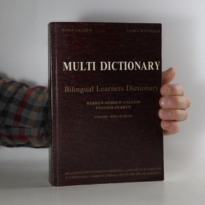 náhled knihy - Multi dictionary. Bilingual learners dictionary. Hebrew-Hebrew-English, English Hebrew