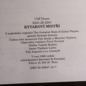 antikvární kniha Kytaroví mistři : kdo je kdo, 1996
