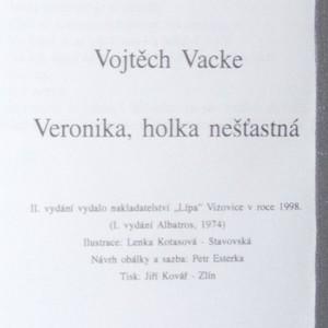 antikvární kniha Veronika, holka nešťastná, 1998