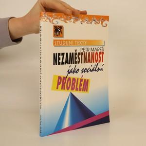 náhled knihy - Nezaměstnanost jako sociální problém