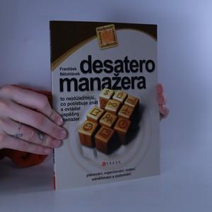 náhled knihy - Desatero manažera
