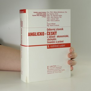 náhled knihy - Odborný slovník anglicko-český z oblasti ekonomické, obchodní, finanční a právní