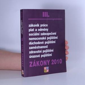 náhled knihy - Zákony 2010 III.