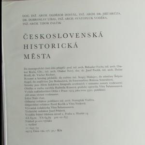 antikvární kniha Československá historická města, 1974
