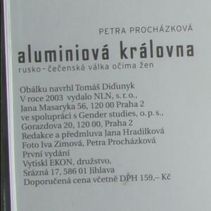 antikvární kniha Aluminiová královna - rusko-čečenská válka očima žen (poškozená viz. foto), 2003