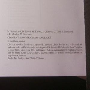 antikvární kniha Odborný slovník česko-anglický z oblasti ekonomické, obchodní, finanční a právní, 2001