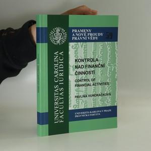 náhled knihy - Kontrola nad finanční činností = Control of financial activities