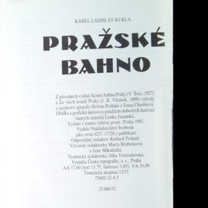 antikvární kniha Pražské bahno, 1992