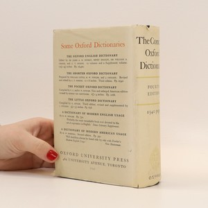 antikvární kniha The Concise Oxford Dictionary, 1954
