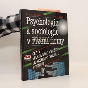 náhled knihy - Psychologie a sociologie v řízení firmy