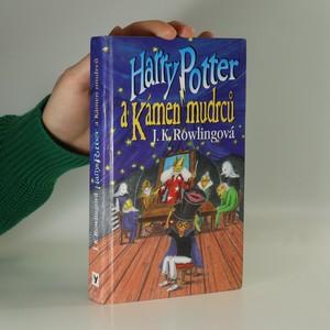 náhled knihy - Harry Potter a Kámen mudrců (1. verze 1. vydání, autorka hned pod názvem)
