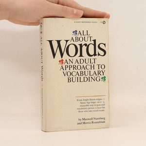 náhled knihy - All about words : an adult approach to vocabulary building