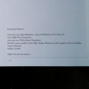 antikvární kniha Procházky Prahou 6, neuveden