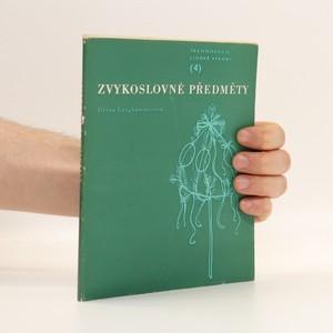 náhled knihy - Zvykoslovné předměty