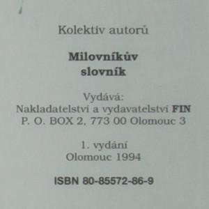 antikvární kniha Milovníkův slovník, 1994