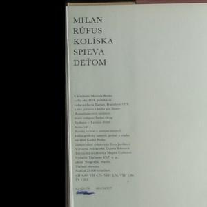antikvární kniha Kolíska spieva deťom , 1979