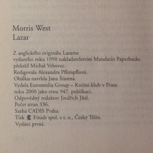 antikvární kniha Lazar, 2000