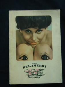 náhled knihy - Nový dekameron - deset kapitol o módě, odívání ad. - LVT 1966 (Obr., nestr., il. V. Kabát, foto M. Hucek)