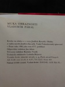 antikvární kniha Muka obraznosti (Obr, 464 s., ob a il. J. Kovařík), 1982