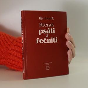 náhled knihy - Kterak psáti a řečniti