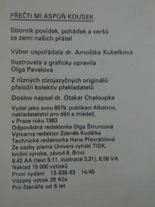antikvární kniha Přečti mi aspoň kousek - Sborník povídek, pohádek a veršů (A4, lam, 208 s., ob, il a typo Olga Pavalová), 1983
