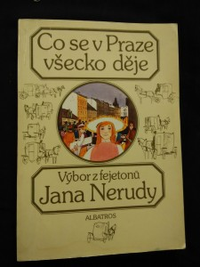 náhled knihy - Co se v Praze všecko děje (výbor fejetonů, Obr, 208 s., il. Z. Mlčoch)