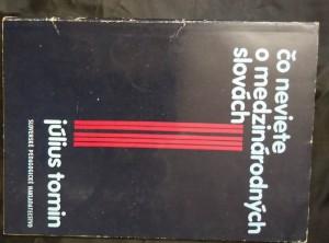 náhled knihy - Čo neviete o medzinárodných slovách