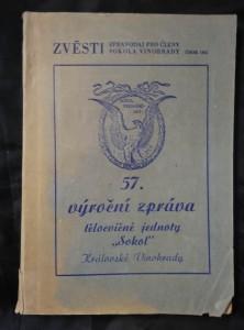 náhled knihy - Zvěsti - 57. výroční zpráva tělocvičné jednoty Sokol Královské Vinohrady (Obr, 202 s.)