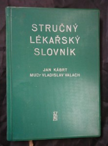 náhled knihy - Stručný lékařský slovník (lat. + řec. - český)
