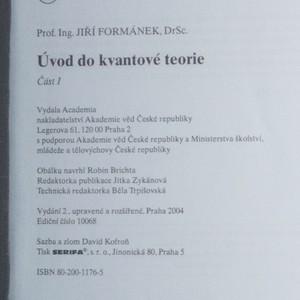 antikvární kniha Úvod do kvantové teorie (I. a II. část, 2 svazky), 2004