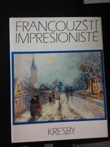 náhled knihy - Francouzští impresionisté - Kresby (A4, Ocpl, 208 s., 56 čb a 32 bar vyobr. na příl.)