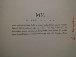 antikvární kniha Mistři rokoka, 1941
