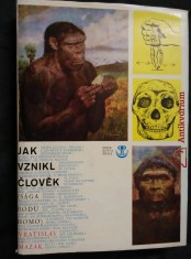 náhled knihy - Jak vznikl člověk (A4, Ocpl, 400 s., 16 příl., ob a il. Z. Burian)