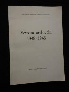 náhled knihy - Seznam archiválií 1848-1948 - archiv československé strany socialistické (A4, Obr, 86 s.)
