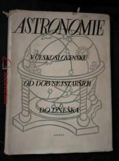 Astronomie v Československu od dob nejstarších do dneška (A4, Ocpl, 346 s, text R, Angl)