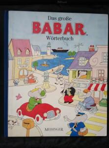 náhled knihy - Das grosse Babar-Wörterbuch (A4, lam, 76 s., přes 1500 slov s il.)