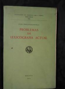 náhled knihy - Problemas de lexicogrrafia actual (Obr, 192 s.)